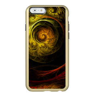 Capa Incipio Feather® Shine Para iPhone 6 Arte abstracta vermelha floral do nascer do sol