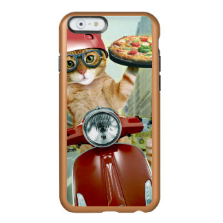 Capa Incipio Feather® Shine Para iPhone 6 gato da pizza - gato - entrega da pizza