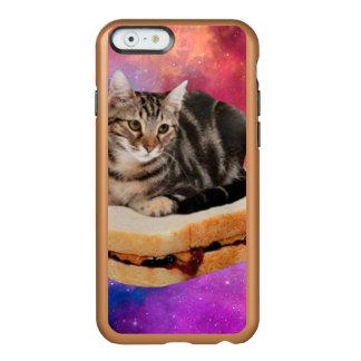 Capa Incipio Feather® Shine Para iPhone 6 gato do pão - gato do espaço - gatos no espaço