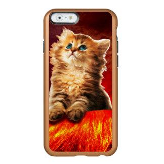 Capa Incipio Feather® Shine Para iPhone 6 gato do vulcão, gato vulcan,