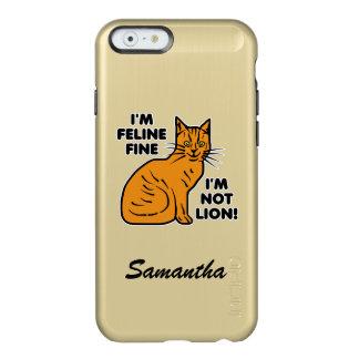 Capa Incipio Feather® Shine Para iPhone 6 Gato malhado alaranjado da chalaça engraçada do