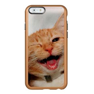 Capa Incipio Feather® Shine Para iPhone 6 Gato que pisc - gato alaranjado - gatos engraçados