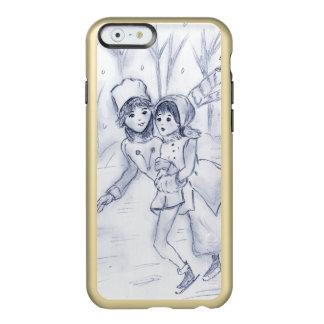 Capa Incipio Feather® Shine Para iPhone 6 Patinadores antiquados no azul II