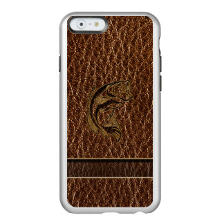 Capa Incipio Feather® Shine Para iPhone 6 Peixes do Couro-Olhar
