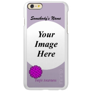 Capa Incipio Feather® Shine Para iPhone 6 Plus Modelo roxo da fita da flor