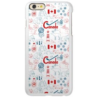 Capa Incipio Feather® Shine Para iPhone 6 Plus Teste padrão dos símbolos de Canadá |