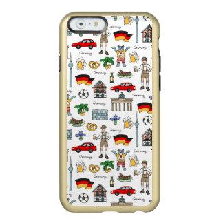 Capa Incipio Feather® Shine Para iPhone 6 Teste padrão dos símbolos de Alemanha |