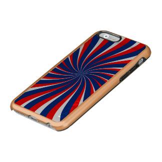 Capa Incipio Feather® Shine Para iPhone 6 Vermelho branco azul espiral…