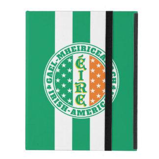 Capa iPad Bandeira americana irlandesa de Éire do orgulho