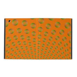 Capa iPad Bolhas na laranja e no verde
