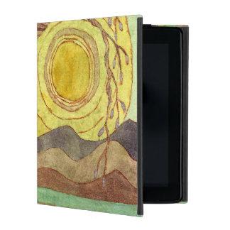 Capa iPad Caso de Powis da arte da paisagem da aguarela