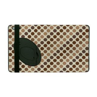 Capa iPad Máscaras de bolinhas de Brown por Shirley Taylor