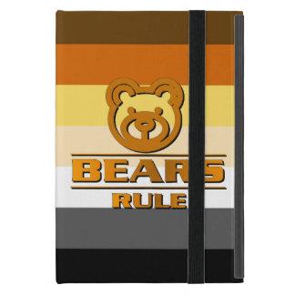 Capa iPad Mini A bandeira do orgulho do urso carrega a regra