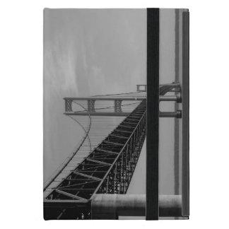 Capa iPad Mini Ao longo do Grayscale da ponte de Mackinac