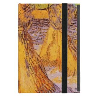 Capa iPad Mini Campo com pilhas do trigo, Vincent van Gogh.