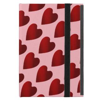 Capa iPad Mini Corações vermelhos e cor-de-rosa do dia dos