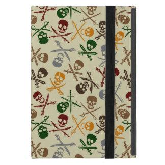 Capa iPad Mini Crânios do pirata com espadas cruzadas