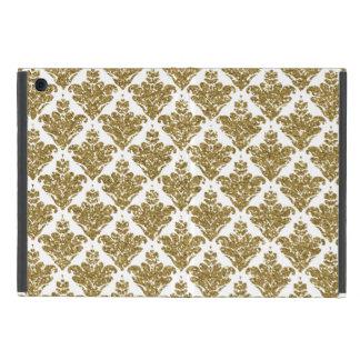 Capa iPad Mini Damasco do brilho do ouro do falso
