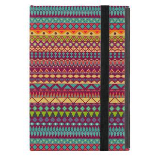 Capa iPad Mini Design abstrato listrado tribal do teste padrão