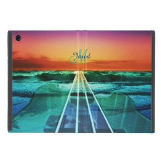 Capa iPad Mini Do iPad baixo da música do por do sol do oceano do