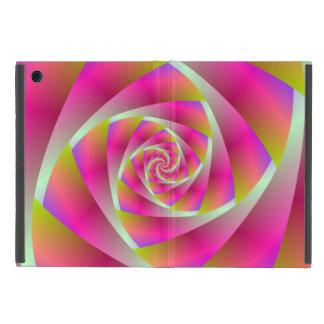 Capa iPad Mini Etapas espirais no rosa e na laranja
