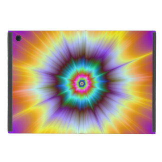 Capa iPad Mini Explosão violeta da laranja e da turquesa