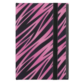 Capa iPad Mini Fundo cor-de-rosa da listra da zebra