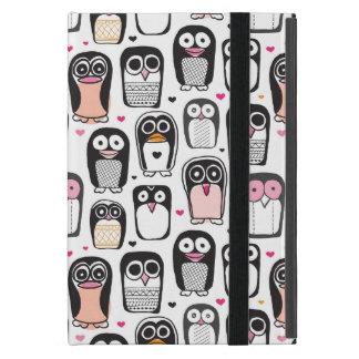 Capa iPad Mini fundo da ilustração do pássaro do pinguim