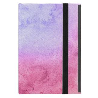 Capa iPad Mini Fundo pintado mão 11 da aguarela abstrata