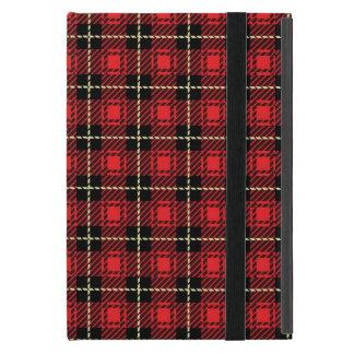 Capa iPad Mini Fundo vermelho da xadrez