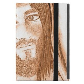 Capa iPad Mini Jesus com cruzes no fundo