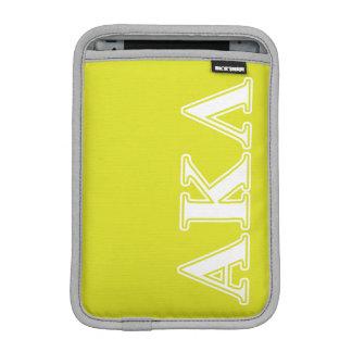 Capa iPad Mini Letras pretas do Lambda do Kappa alfa