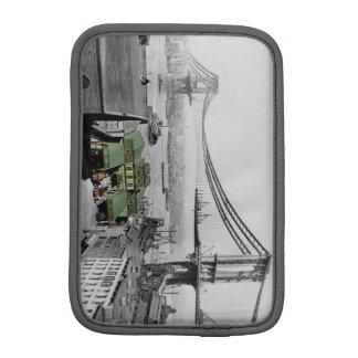Capa iPad Mini Luva da foto do vintage de New York da ponte de