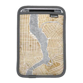 Capa iPad Mini Mapa dourado da cidade de New York