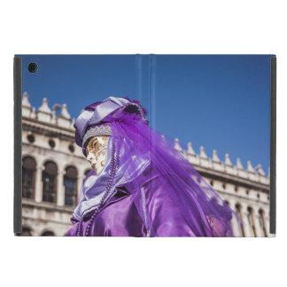 Capa iPad Mini Máscara violeta do carnaval em Veneza