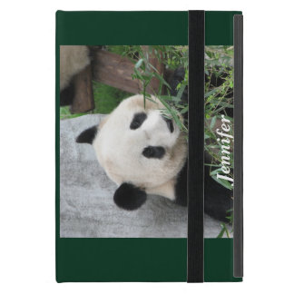 Capa iPad Mini mini caso do iPad, panda gigante, verde