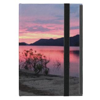 Capa iPad Mini Nascer do sol sobre caso do iPad do lago ferry de