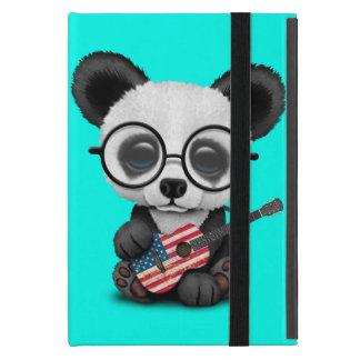 Capa iPad Mini Panda do bebê que joga a guitarra da bandeira