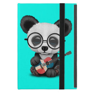 Capa iPad Mini Panda do bebê que joga a guitarra dominiquense da