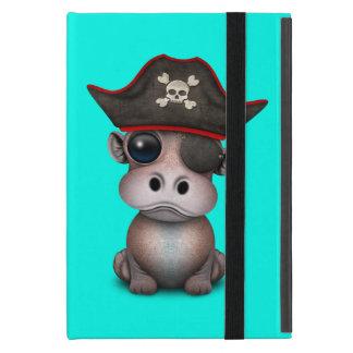 Capa iPad Mini Pirata bonito do hipopótamo do bebê