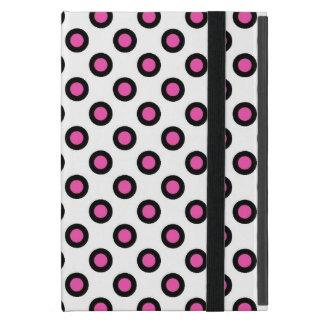Capa iPad Mini Produtos de bolinhas cor-de-rosa e pretos