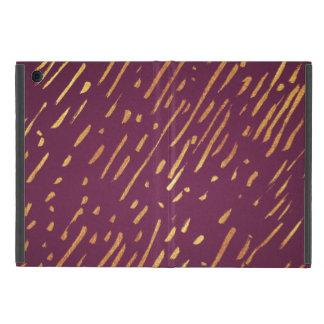 Capa iPad Mini Raia da folha da magenta e de ouro do falso