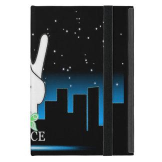 Capa iPad Mini Símbolo de paz com um fundo da cidade