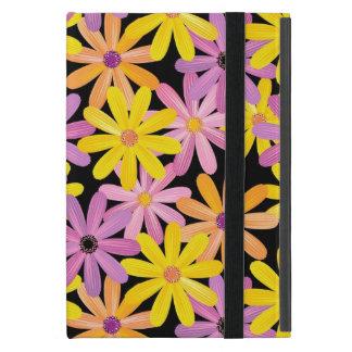 Capa iPad Mini Teste padrão de flores do Gerbera, fundo