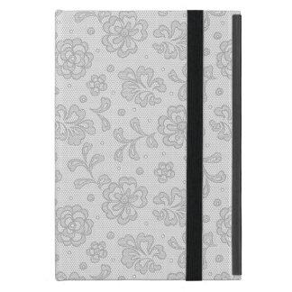 Capa iPad Mini Teste padrão do laço, vintage 1 da flor