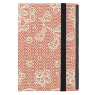 Capa iPad Mini Teste padrão do laço, vintage 4 da flor