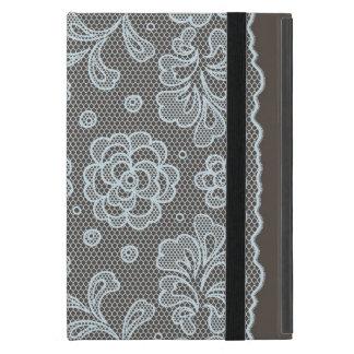 Capa iPad Mini Teste padrão do laço, vintage 6 da flor