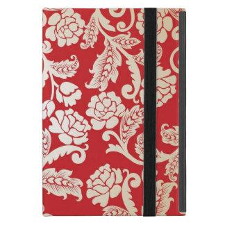Capa iPad Mini Teste padrão floral do fundo do damasco