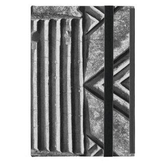 Capa iPad Mini Teste padrão preto & branco geométrico de pedra