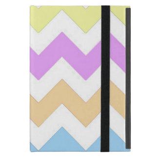 Capa iPad Mini Tiras do rosa da cor Pastel, as amarelas e as